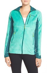 Women's Patagonia 'R2' Zip Front Fleece Jacket Aqua Stone