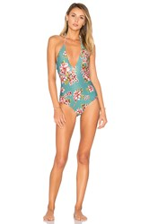 Beach Riot Bali One Piece Teal