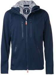 Save The Duck Hooded Lightweight Jacket Blue