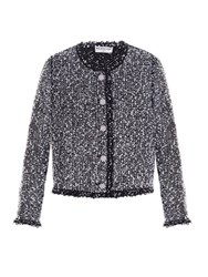 Balenciaga Collarless Tweed Jacket