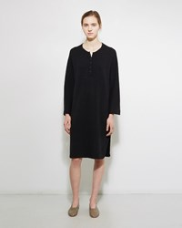 Raquel Allegra Merino Henley Dress Black