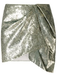 Giuliana Romanno Draped Skirt Metallic