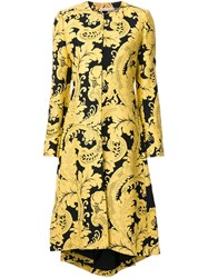 Alice Olivia 'Liza' Coat Yellow Orange