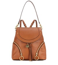 See By Chloe Leather Backpack Brown