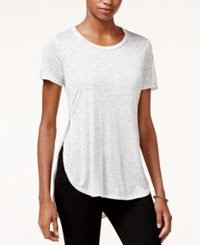 Bar Iii Space Dyed High Low T Shirt Only At Macy's Heather Grey Combo