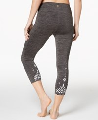Gaiam Om Renew Cropped Leggings Charcoal Heather