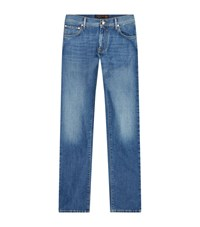 Corneliani Light Wash Jeans Male Blue