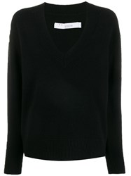 Iro V Neck Sweater Black
