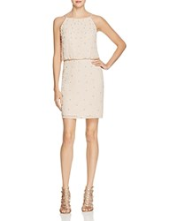Aidan Aidan Beaded Blouson Cocktail Dress 100 Bloomingdale's Exclusive Champagne