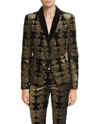 7 For All Mankind Brocade Velvet Blazer