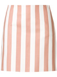 Drome Fitted Striped Skirt Pink And Purple