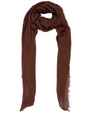 Rick Owens Silk And Cashmere Scarf Blood Red