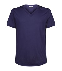 James Perse V Neck Jersey T Shirt Male Navy