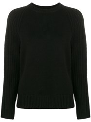 Joseph Round Neck Jumper Black