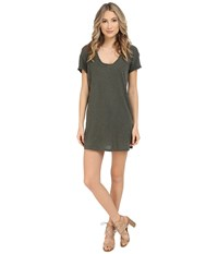 Lanston T Shirt Dress Military Women's Dress Olive