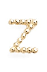 Bony Levy Women's Single Initial Stud Earring Nordstrom Exclusive Yellow Gold Z