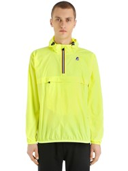 K Way Le Vrai 3.0 Leon Packable Nylon Anorak Yellow