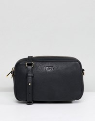 Ugg Janey Black Leather Crossbody Bag