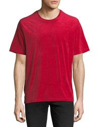 Ovadia And Sons Velour Cotton T Shirt Red