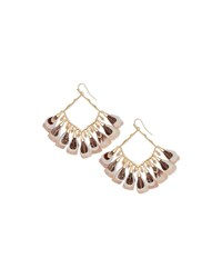 Kendra Scott Raven Feather And Stone Earrings Ivory