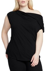 Rachel Roy Plus Size Twist Top Black
