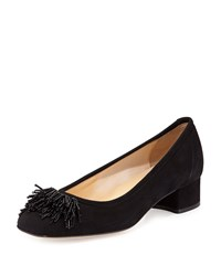Sesto Meucci Flynn Beaded Fringe Pump Black