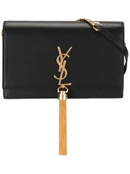 Saint Laurent Kate Monogram Chain Wallet Black