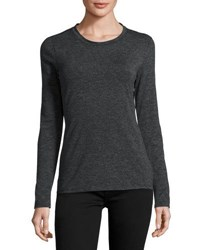1.State Long Sleeve Crewneck Top Gray