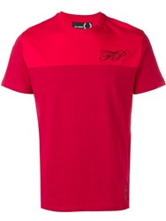 Fred Perry Raf Simons X Chest Logo T Red