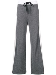 No Ka' Oi Wide Side Stripe Joggers Grey