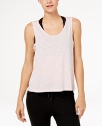 Gaiam Harley Burnout Cropped Tank Top Pale Lilac Heather