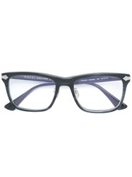 Gucci Eyewear Embossed Titanium Square Glasses Grey