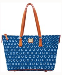 Dooney And Bourke Indianapolis Colts Zip Top Shopper Blue