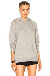 Alexander Wang T By Cashwool Raglan Hoodie In Gray