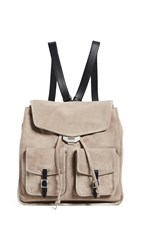 Rag And Bone Field Backpack Warm Grey Suede