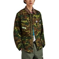 Ovadia And Sons Camouflage Print Cotton Ripstop Field Jacket Green