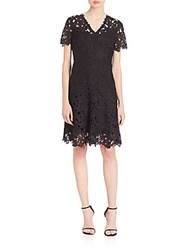 Elie Tahari Samira Fit And Flare Dress Black