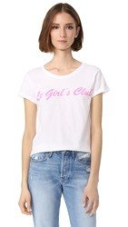 Happiness Le Girl's Club Tee White