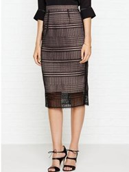 Lk Bennett L.K. Maddox Lace Pencil Skirt Black