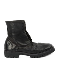 Guidi Lace Up Ankle Boots Black