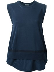 Moncler Layered Tank Top Blue