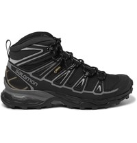 Salomon X Ultra Mid 2 Gtx Canvas Rubber And Leather Hiking Boots Black