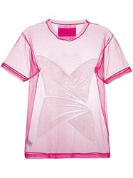 Viktor And Rolf Embroidered Tulle T Shirt Pink