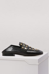Isabel Marant Leather Feenie Loafers Black Dore
