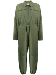 Lala Berlin Military Style Jumpsuit Green