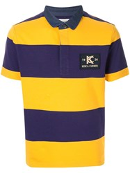 Kent And Curwen Striped Polo Shirt Yellow
