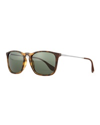Wayfarer Plastic Sunglasses Brown Ray Ban