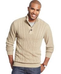 Tricots St Raphael Tricots St. Raphael Fisherman Cable Knit Sweater Latte Heather