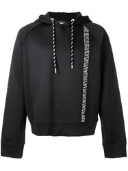 Just Cavalli Studded Stripe Hoodie Black