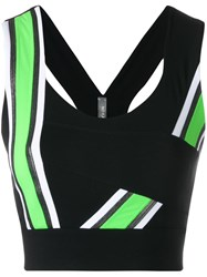 No Ka' Oi Stripe Detail Sports Bra Black